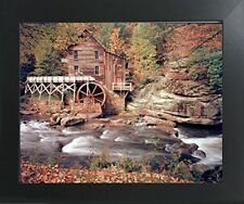 Glade Creek Mill Nature Trees Landscape Wall Decor Art Print Framed Picture