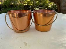Vintage West Bend Solid Copper Buckets with Handles (Lot of 2)