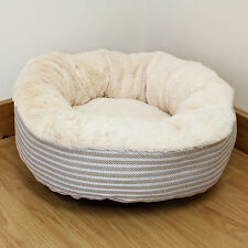 Super Cosy Warm Washable Round Cat/Kitten Bed Fleece/Plush/Soft/Donut/Small/Snug