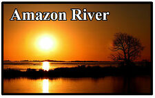 AMAZON RIVER, SOUTH AMERICA - SOUVENIR NOVELTY FRIDGE MAGNET - SIGHTS / GIFTS
