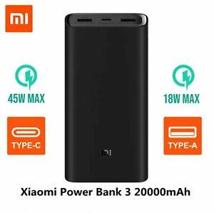 Original Xiaomi Power bank 3 Pro 20000mAh PLM07ZM USB Type C 45W Fast Charging