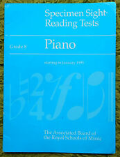 Specimen Sight  Reading Tests Grade 8 - ABRSM: Piano Starting in January 1995