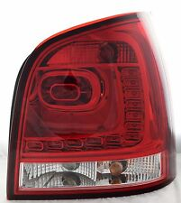 Back Rear Tail Lights Lamps LED Dark Red Clear For VW Polo 9N3 05-09- On