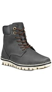 Timberland Women's Brookton Lace-Up Leather 6in dark   grey Boots SZ 8,5 ❤️❤️❤️