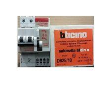 BTICINO D825/10 INTERRUTTORE MAGNETOTERMICO LIMITATORE BIPOLARE DIFFERENZIALE