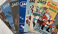 Lot 8 Vintage Jack & Jill Magazines 1945 1946 1955 Paper Dolls Xmas