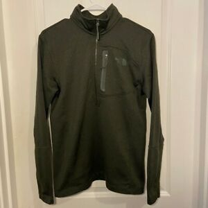 The North Face Canyonlands Olive Green 1/4 Zip Jacket Collared Men's Size Small
