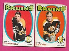 1971-72 OPC BOSTON BRUINS  CARD LOT  (INV# C2512)