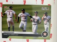 2020 TOPPS NOW ALDS CARD HOUSTON ASTROS #389 ADVANCE TO 4th STRAIGHT ALCS