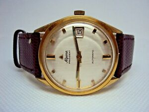 Vintage Men's Watch Alpina President Automatic Cal. 581C 21 J. Swiss Made 1960 s