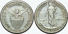 1913-S/S US-Philippines 20 Centavos ~ RPM ~ Allen#11.09a ~ 75% Silver ~ MX309