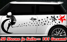 101 Sterne Star Auto Aufkleber Set Sticker Tuning Fee Stylin WandtattooTribel xx