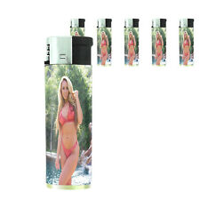 California Pin Up Girl D2 Lighters Set of 5 Electronic Refillable Butane