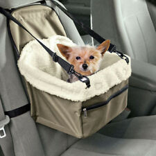 Pet Dog Cat Puppy Booster Car Seat Console Secure Safety Travel Basket Seat