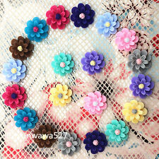 NEW 20pcs mix Resin flower flat back Scrapbooking For phone/craft