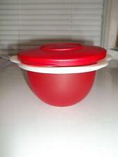 Tupperware Flower Bowl - Red & White - 5-1/4 w x 3-1/2 t