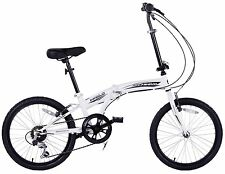 "BARGAIN ADULT 20""WHEEL FOLDING CYCLE CITY FOLDER SHIMANO 6 SPEED BIKE BOATING"