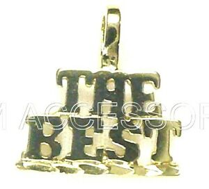 The Best Charm Word Pendant EP Gold Plated with a Lifetime Guarantee