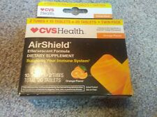 CVS Health AirShield Immune Support 20 Tablets orange Flavor exp 11/18
