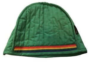 Vintage Toaster Cover Domus Quilted Green Rainbow Embroidered LGBT Gay Pride