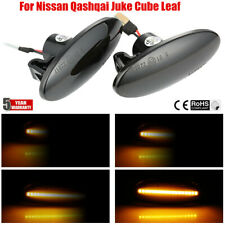 2x Smoke Amber LED Side Marker signal Light For Nissan Qashqai Juke Cube Leaf @