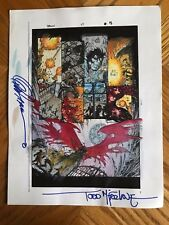 Spawn 47 pg 15 original color guide art Signed Todd McFarlane Greg Capullo COA Comic Art
