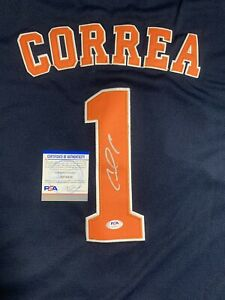 Carlos Correa Signed Houston Astros Jersey PSA/DNA Size 44