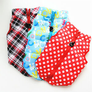 Pet Cat  Coat Jacket Apparel Small Dog Clothing Soft Padded Vest Harness Puppy