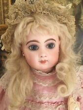 Antique E8J Jumeau Bebe French Doll 19 IN Pressed Bisque Antique Costume!