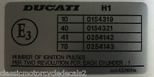 DUCATI 916 996 FOGARTY REPLICA LEFT FRAME RESTORATION DECAL