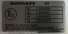DUCATI 916 996 FOGARTY REPLICA LEFT FRAME RESTORATION DECAL