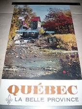 Affiche QUEBEC La Belle Province c. 1960 - Canada - 3