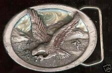 US EAGLE PEWTER  enamel BUCKLE old dated hallmarked