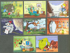 Disney-Science Characters mnh set of 8-Cartoons-Animation-StVincent & Gren