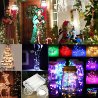 2M5M10M String Fairy Light 20/50/100 LED Battery Operated Xmas Lights Party Lamp