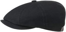 STETSON Bakerboy Cap Hat BAR Hatteras Selvedge Cotton Black New Trend