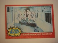 Star Wars Series 2 (Red) Topps 1977 Trading Card # 93 Stormtroopers Blast The