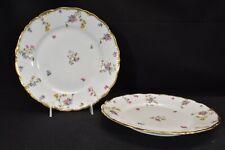 Limoges Elite Bawo & Dotter BWD29 Violets Pompadour Pair of Dinner Plates