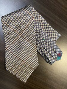 Tommy Hilfiger Made In USA mens Tie-New-100% Italian Silk-Houndstooth Print Gray