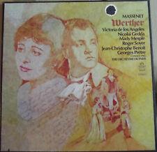 3 LP BOX SET-MASSENET-WERTHER-DE ANGELIS, GEDDA,MESPLE',SOYER,BENOIT....