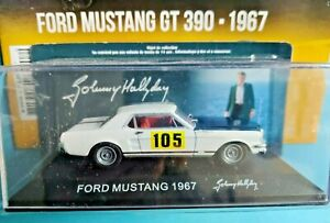 Voiture Johnny Hallyday Ford Mustang 390GT 1967 n°2 Neuf 1/43 Monte Carlo  .