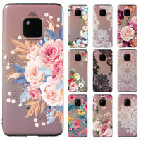 For Huawei Mate 20 Lite/Honor 8X 10 Clear Painted Soft Silicone TPU Case Cover