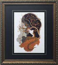 "Erte ""Autumn"" Newly CUSTOM FRAMED Print Art Deco Design FOUR SEASONS SUITE fall"
