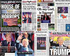 Donald Trump President 8x10 Photo Newspaper Headlines NY Post Times Daily News