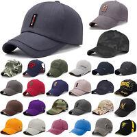 Mens Womens Baseball Cap Adjustable Snapback Trucker Sport Golf Visor Sun Hat