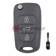 New Uncut Folding Remote Key Shell Case Fob 3 Button for Kia Forte Sportage Soul