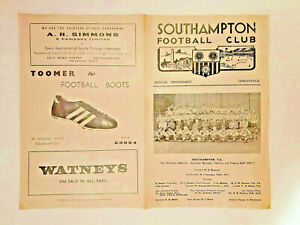 Southampton Reserves v West Ham United Reserves Combination 1970-71