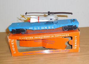LIONEL ORIGINAL POSTWAR #6820 FLATCAR MISSILE TRANSPORT NAVY HELICOPTER BOXED