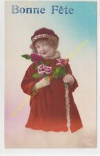 CPA Old Postcard vintage - Enfant  Child SUPER 838 BONNE FETE