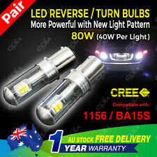 2PCS 12V 80W LED CREE BA15S 1156 P21W Car Reverse Turn Signal Backup Light bulb